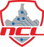 National Cyber League Logo, Shield with circuit and the letters N, C, and L